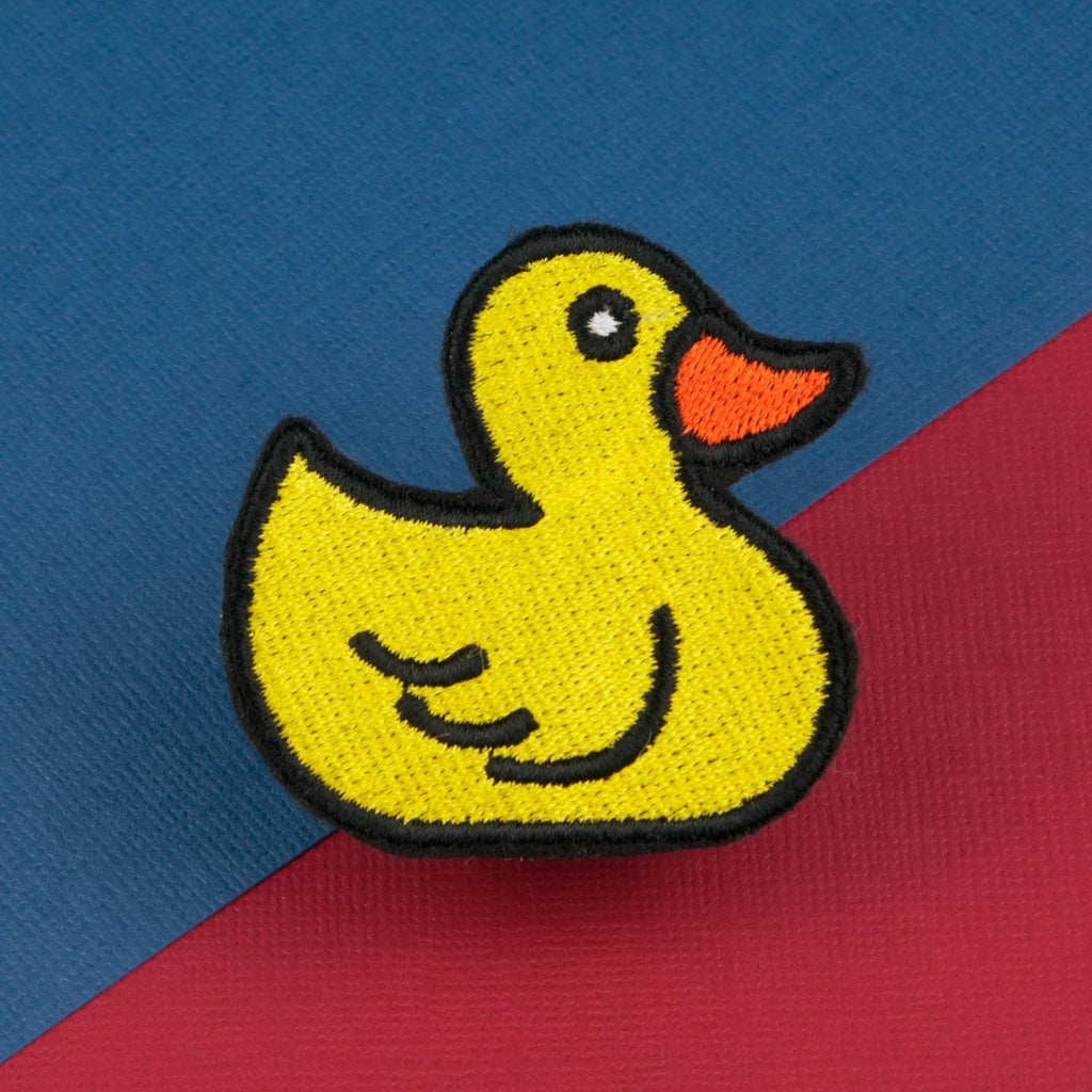 Rubber Duck Iron On Patch Hatty Hats Embroidery