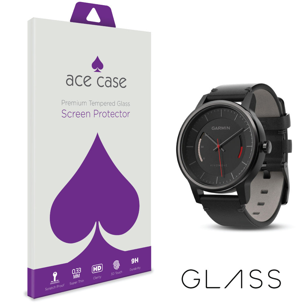 Garmin Vivomove Tempered Glass Screen Protector by Ace Case