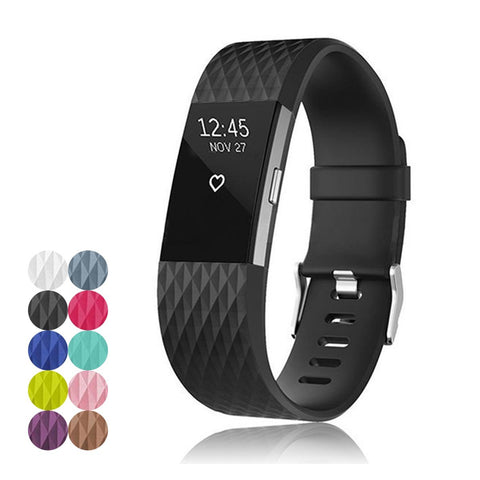 Fitbit Charge 2 Straps by Ace Case - Diamond Design, 10 Colours