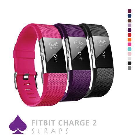 Fitbit Charge 2 Straps by Ace Case - Dot Design, Over 12 Colours