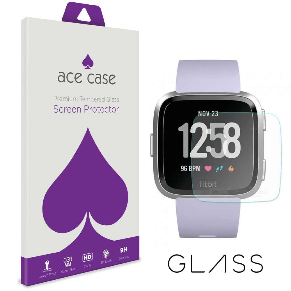 Fitbit Versa Tempered Glass Screen Protector by Ace Case