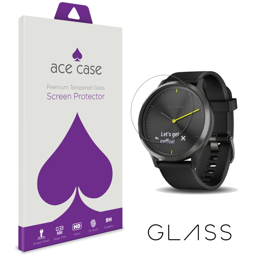 Garmin Vivomove HR Tempered Glass Screen Protector by Ace Case