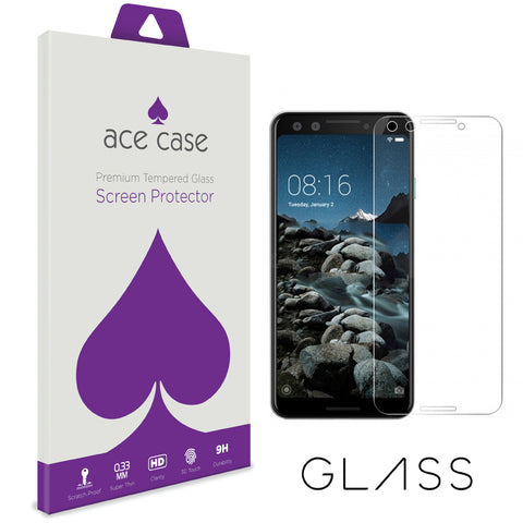 Google Pixel 3 Tempered Glass Screen Protector by Ace Case