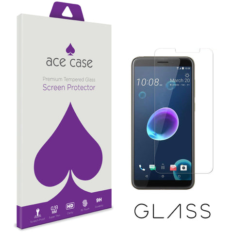 HTC Desire 12 Tempered Glass Screen Protector by Ace Case