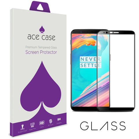 HTC Desire 12 PLUS Tempered Glass Screen Protector - BLACK Full 3D Edge to Edge Coverage by Ace Case