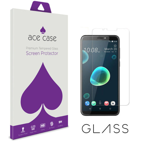 HTC Desire 12 PLUS Tempered Glass Screen Protector by Ace Case
