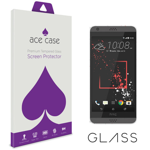 HTC Desire 530 Tempered Glass Screen Protector by Ace Case