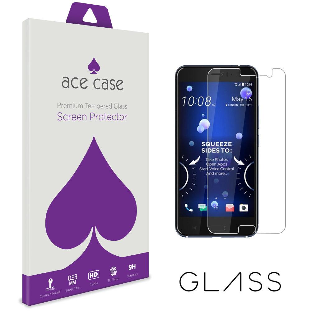 HTC U11 Eyes Tempered Glass Screen Protector by Ace Case