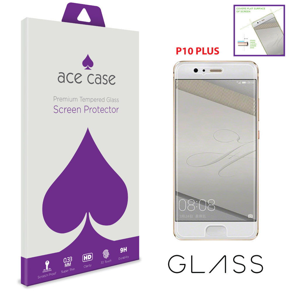 Huawei P10 PLUS Tempered Glass Screen Protector by Ace Case