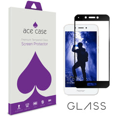 Huawei Honor 6A Tempered Glass Screen Protector - BLACK Full 3D Edge to Edge Coverage by Ace Case