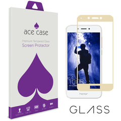 Huawei Honor 6A Tempered Glass Screen Protector - GOLD Full 3D Edge to Edge Coverage by Ace Case