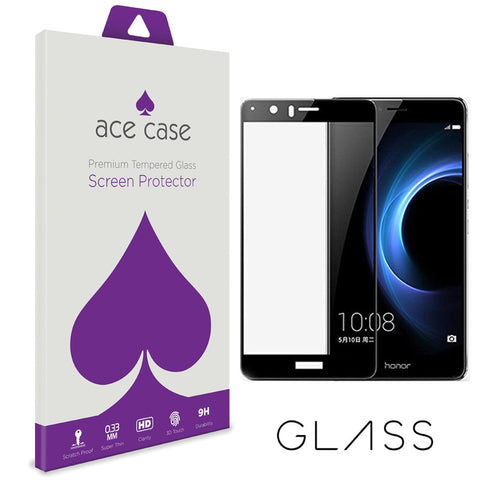 Huawei Honor 8 Pro (also known as Huawei V9) Tempered Glass Screen Protector - BLACK Full 3D Edge to Edge Coverage by Ace Case