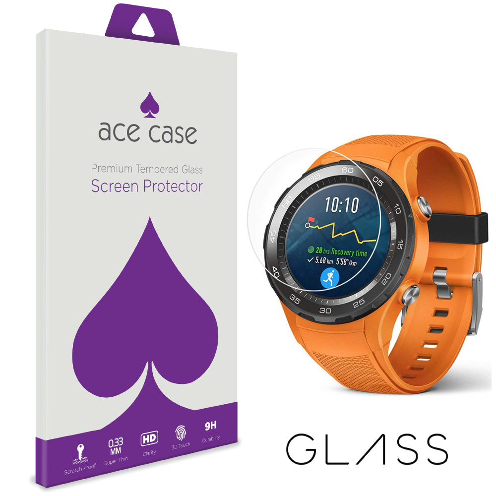 Huawei Watch 2 Tempered Glass Screen Protector by Ace Case