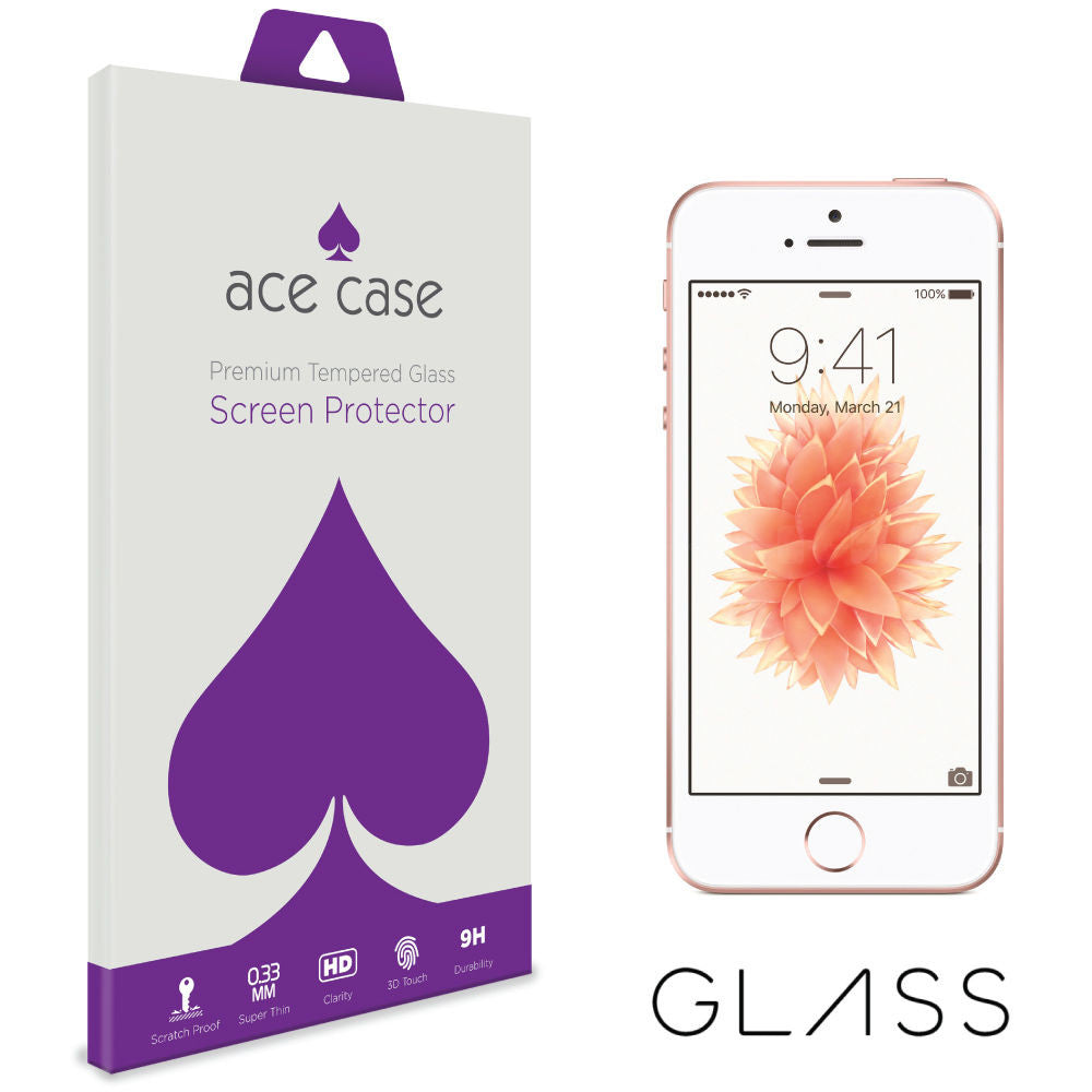 iPhone SE / 5S Tempered Glass Screen Protector by Ace Case