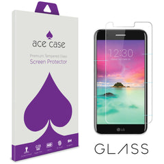 LG K10 2017 Tempered Glass Screen Protector by Ace Case