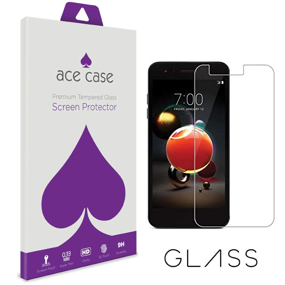 LG K8 2018 Tempered Glass Screen Protector by Ace Case
