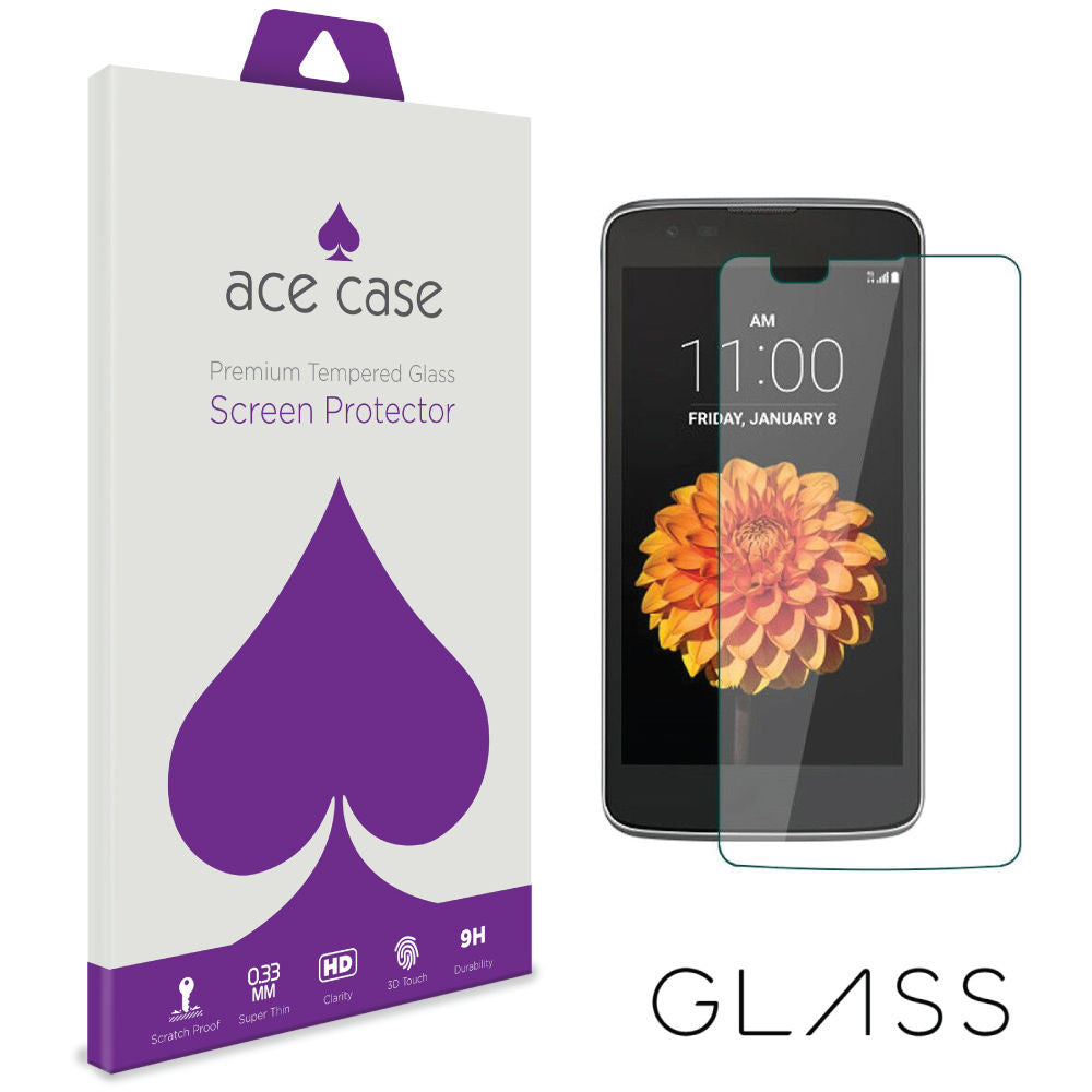 LG K8 Tempered Glass Screen Protector by Ace Case