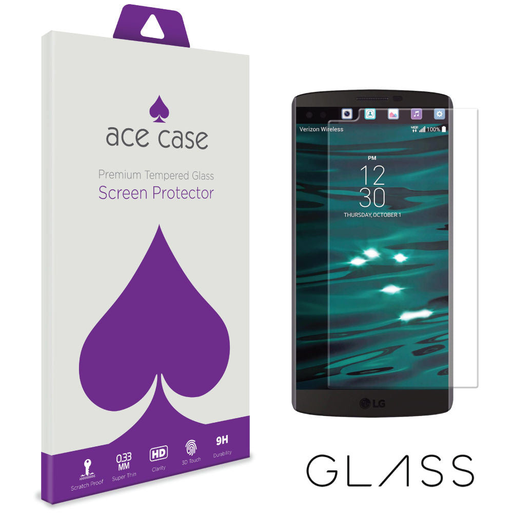 LG V10 Tempered Glass Screen Protector by Ace Case