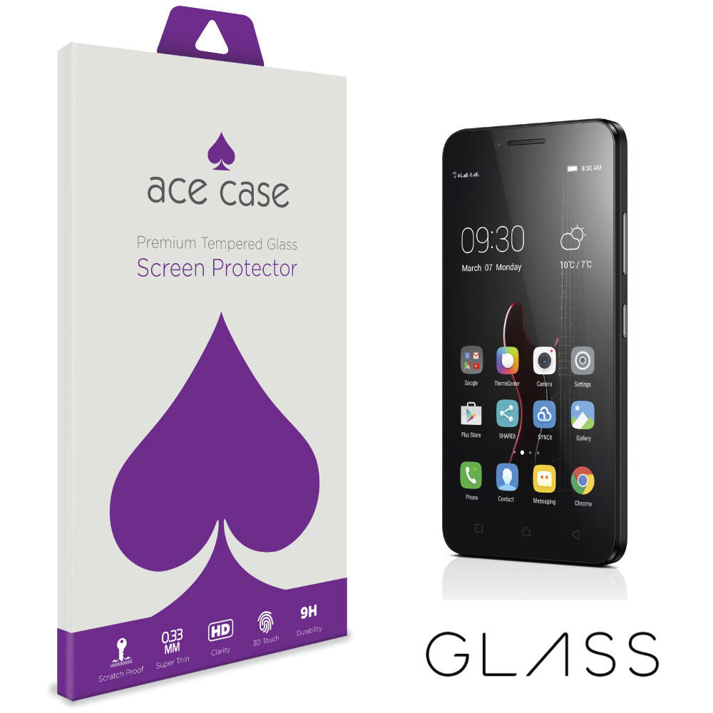 Lenovo Vibe C Tempered Glass Screen Protector by Ace Case