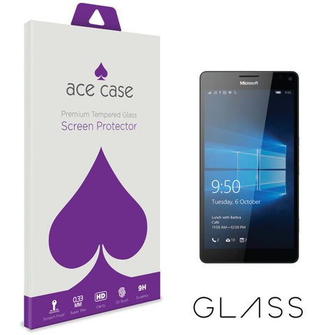 Microsoft Lumia 950 Tempered Glass Screen Protector by Ace Case