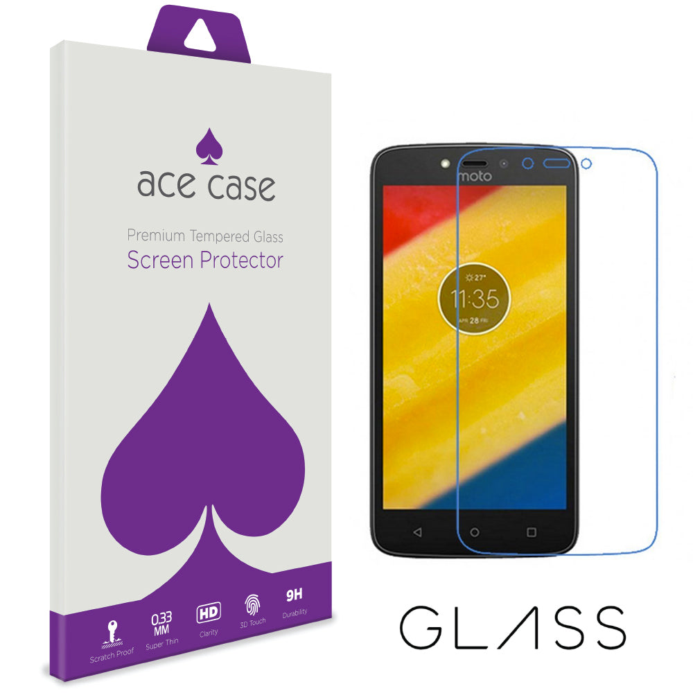 Moto C Tempered Glass Screen Protector by Ace Case