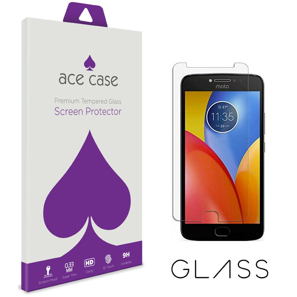 Moto E4 Plus Tempered Glass Screen Protector by Ace Case