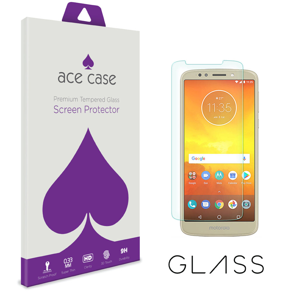 Moto E5 Tempered Glass Screen Protector by Ace Case