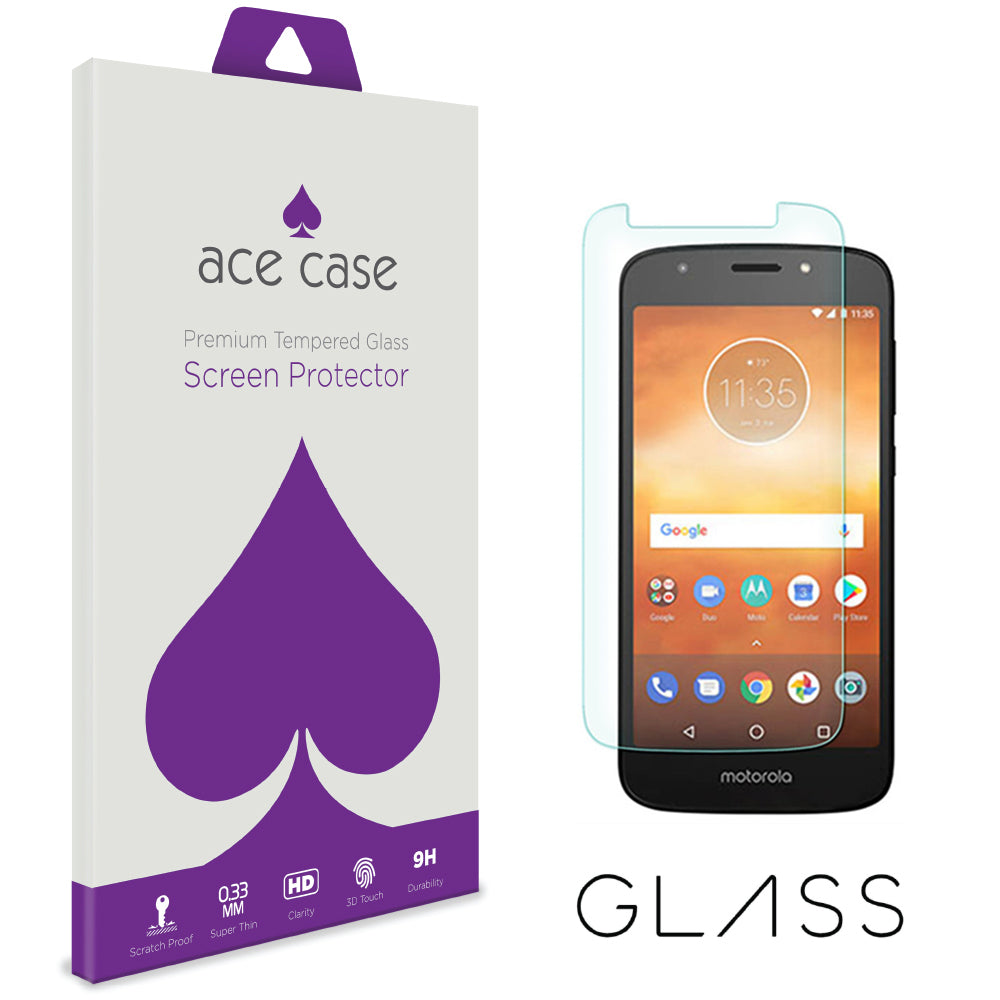 Moto E5 PLAY Tempered Glass Screen Protector by Ace Case