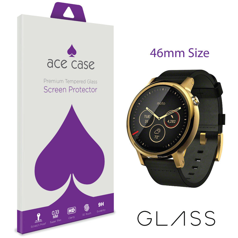 Motorola Moto 360 46mm (2nd gen) Tempered Glass Screen Protector by Ace Case
