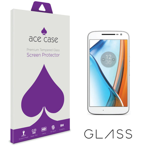 Motorola Moto G4 Tempered Glass Screen Protector by Ace Case
