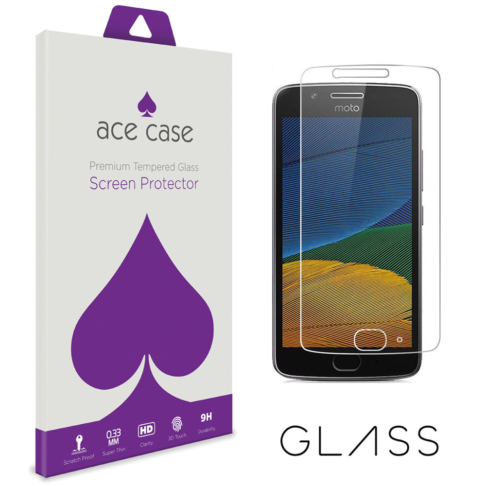 Motorola Moto G5 Tempered Glass Screen Protector by Ace Case