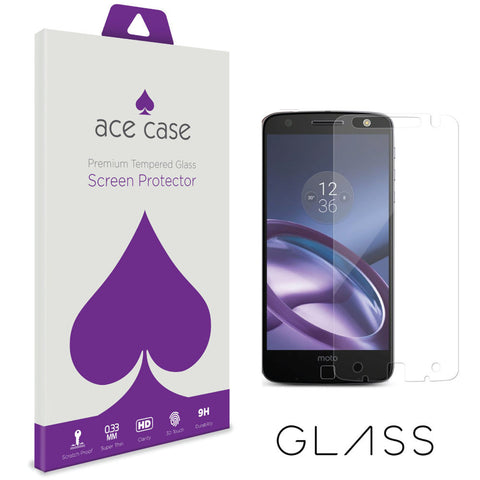 Motorola Moto Z Force Tempered Glass Screen Protector by Ace Case