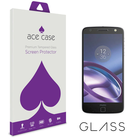 Motorola Moto Z Tempered Glass Screen Protector by Ace Case