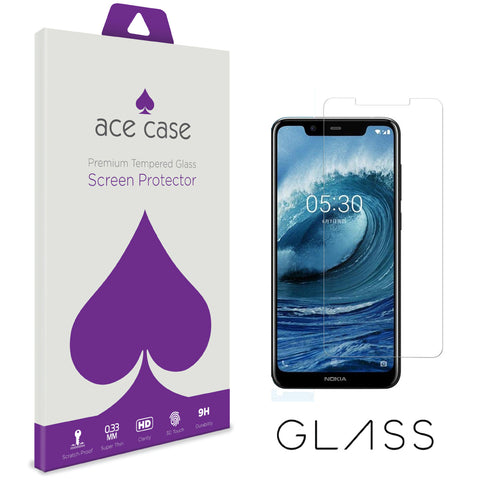 Nokia 5.1 Plus Tempered Glass Screen Protector by Ace Case