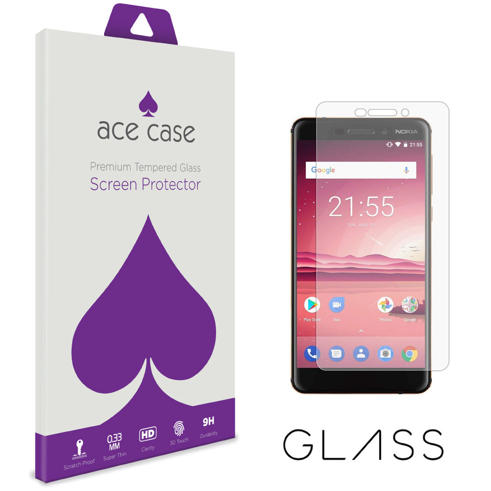 Nokia 6.1 Tempered Glass Screen Protector by Ace Case