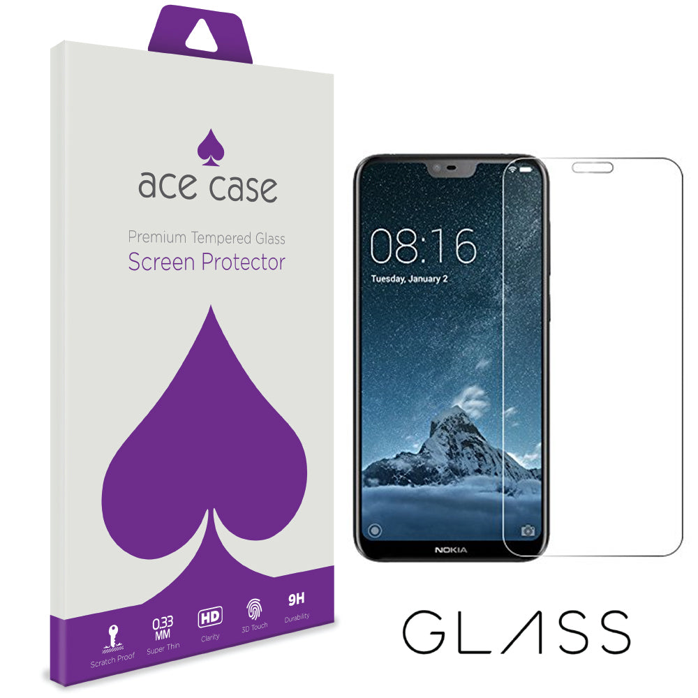 Nokia 6.1 Plus (Nokia X6) Tempered Glass Screen Protector by Ace Case