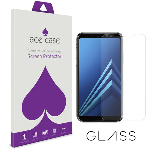Samsung A6 2018 Tempered Glass Screen Protector by Ace Case