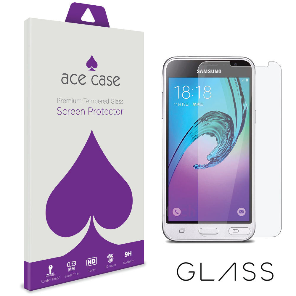 Samsung Galaxy J3 (2016) Tempered Glass Screen Protector by Ace Case