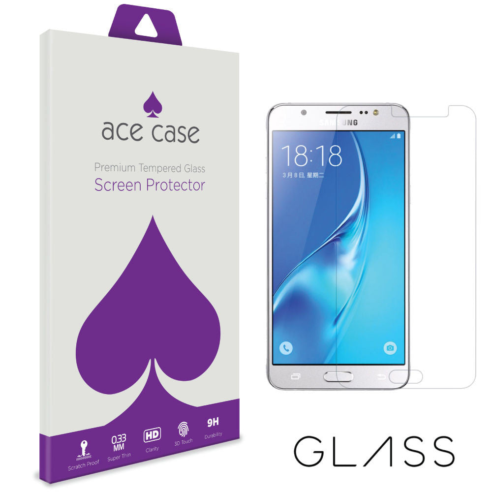Samsung Galaxy J5 (2016) Tempered Glass Screen Protector by Ace Case