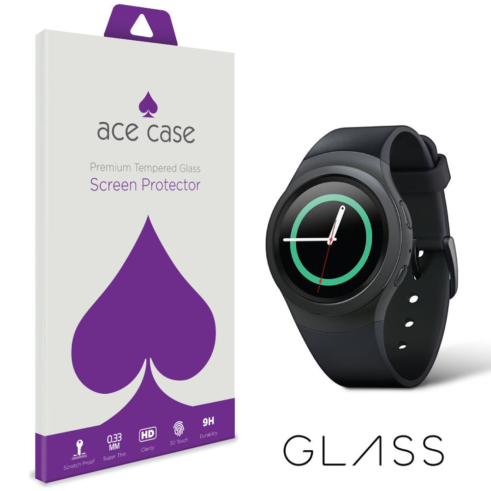 Samsung Gear S2 Tempered Glass Screen Protector by Ace Case