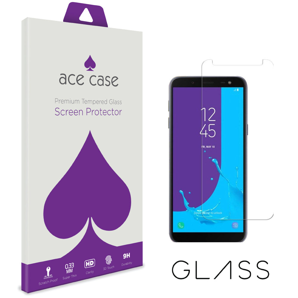 Samsung J6 2018 Tempered Glass Screen Protector by Ace Case