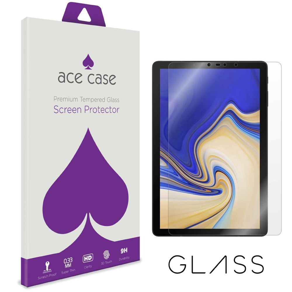 Samsung Tab S4 10.5 Tempered Glass Screen Protector by Ace Case