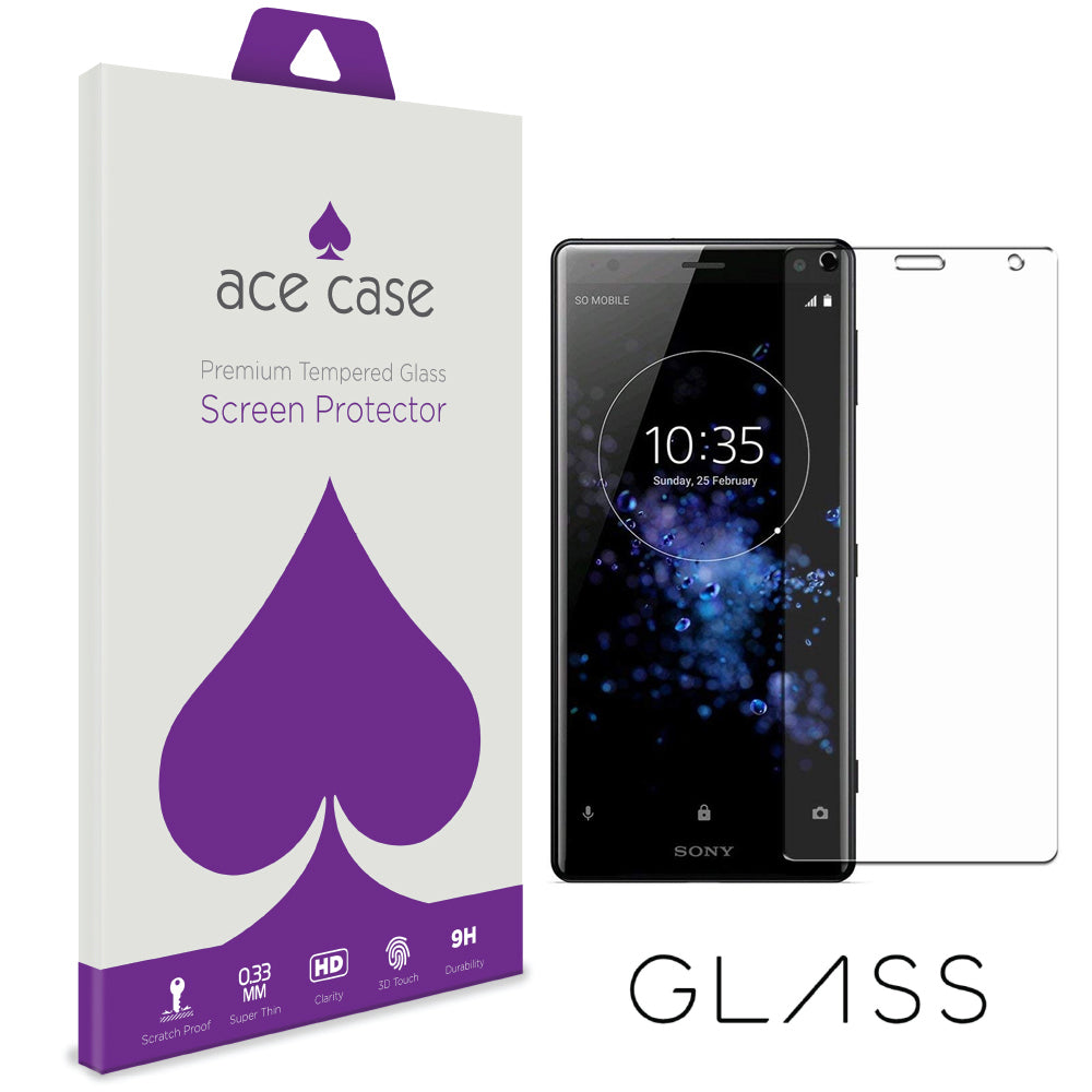 Sony Xperia XZ2 Premium Tempered Glass Screen Protector by Ace Case