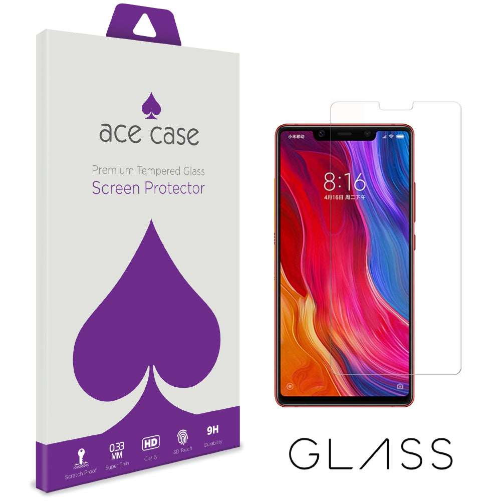 Xiaomi Mi 8 Tempered Glass Screen Protector by Ace Case