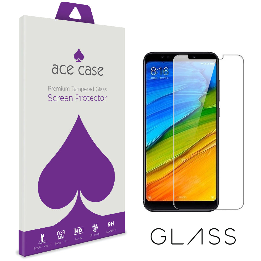 Xiaomi Redmi Note 5 Pro Tempered Glass Screen Protector by Ace Case
