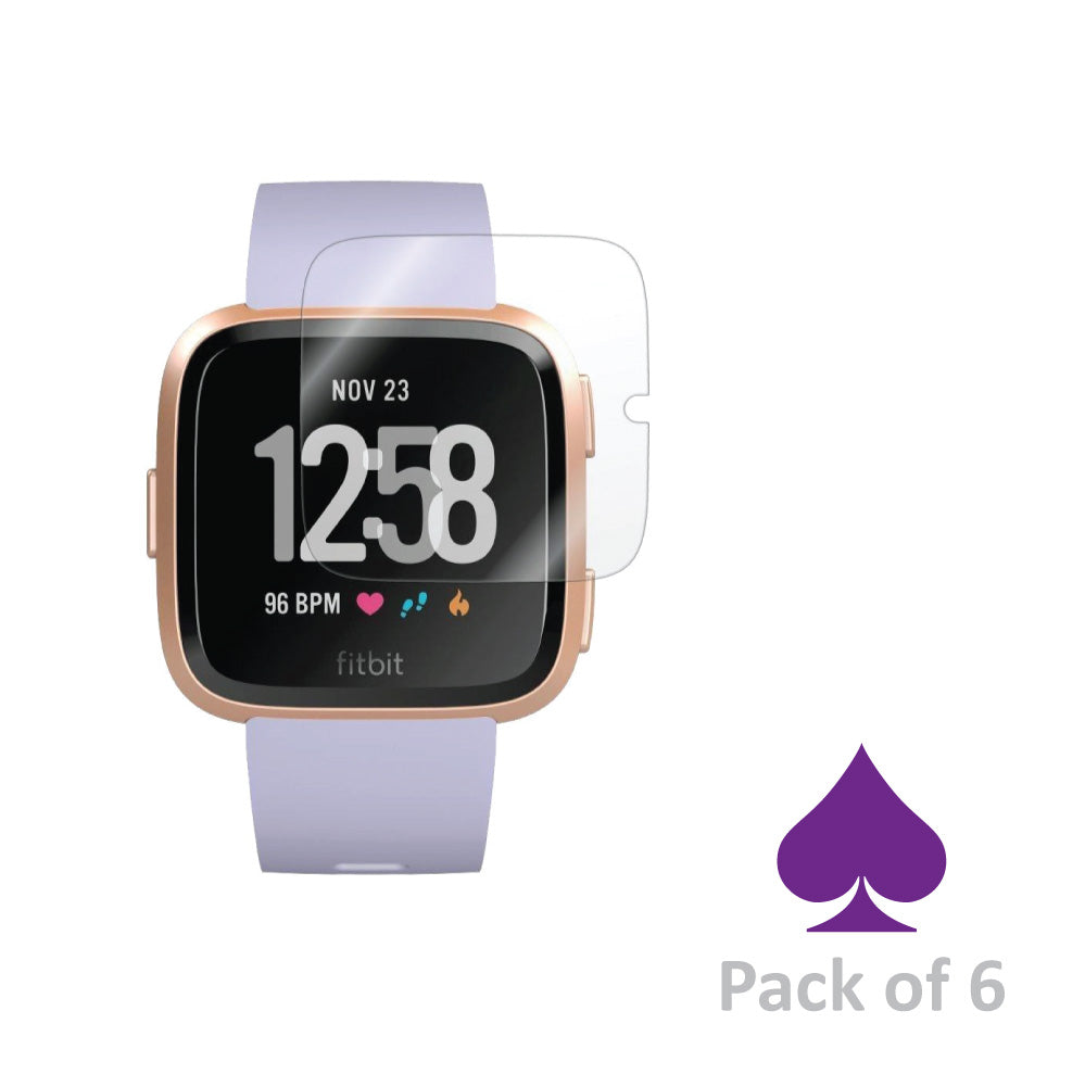 Fitbit Versa Screen Protector by Ace Case - Pack of 6