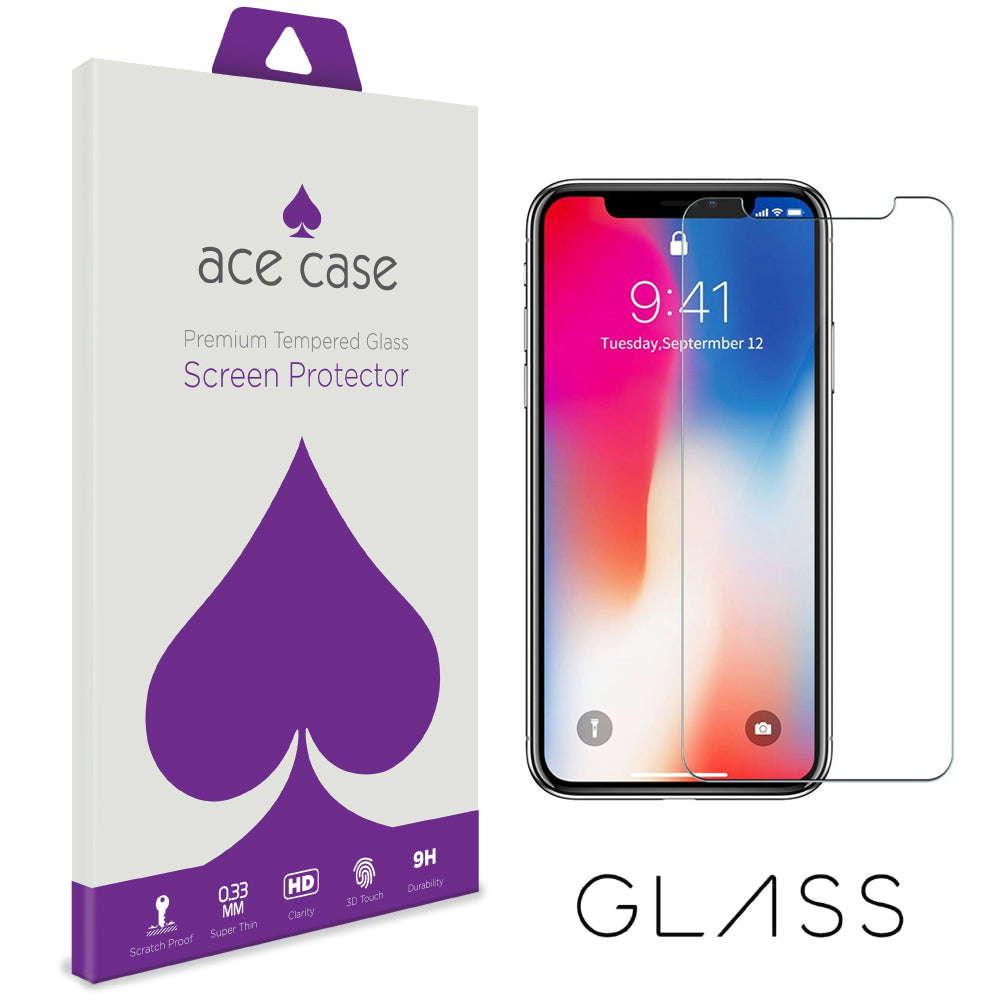 iPhone X / iPhone 10 Tempered Glass Screen Protector by Ace Case