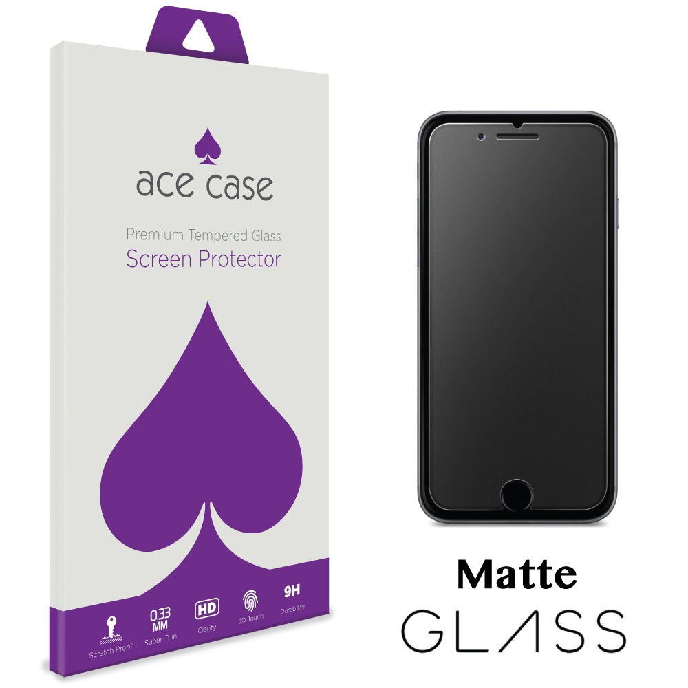 Apple iPhone 8 MATTE Anti Glare Glass Screen Protector by Ace Case