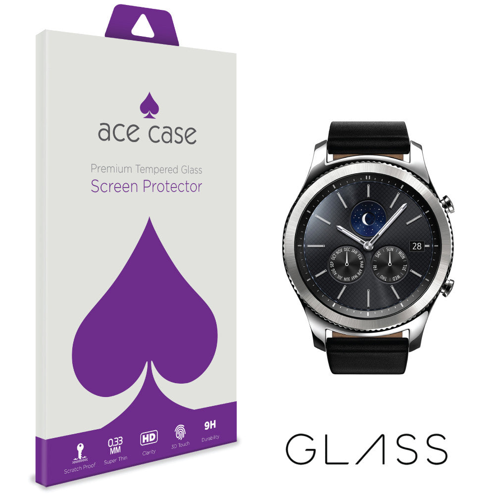 Samsung Gear S3 Classic Tempered Glass Screen Protector by Ace Case