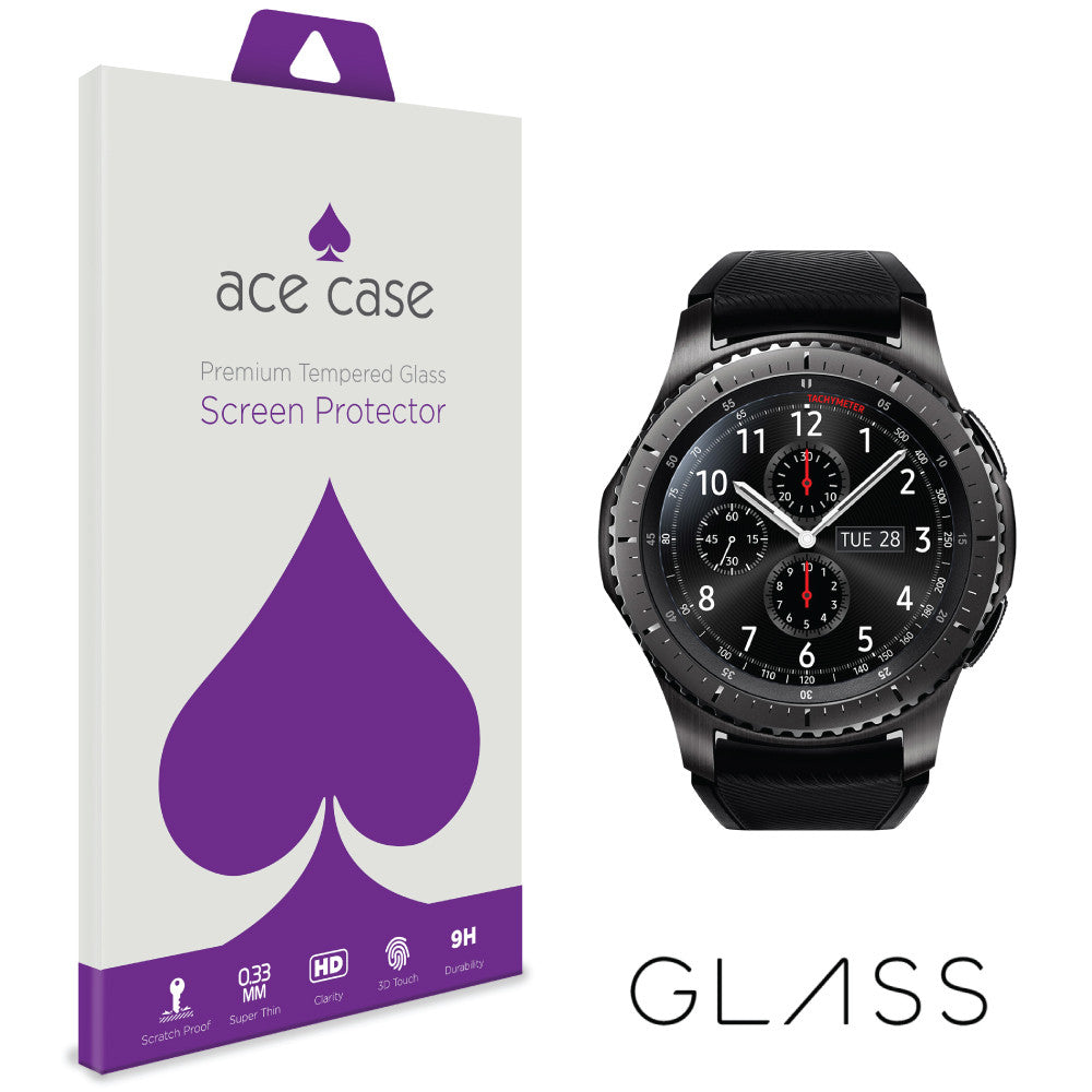 Samsung Gear S3 Frontier Tempered Glass Screen Protector by Ace Case